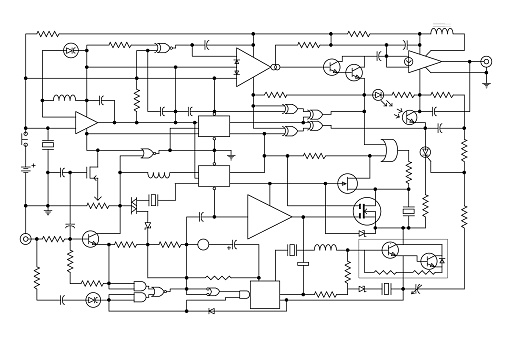 Electronic Project Schematic Circuit Diagram Stock