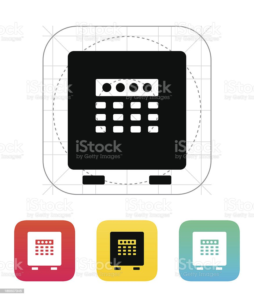 Electronic safe icon. royalty-free stock vector art