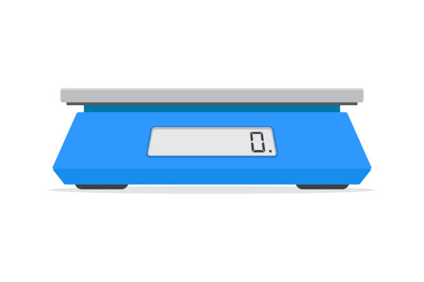 electronic scales for products. - weight scale stock illustrations