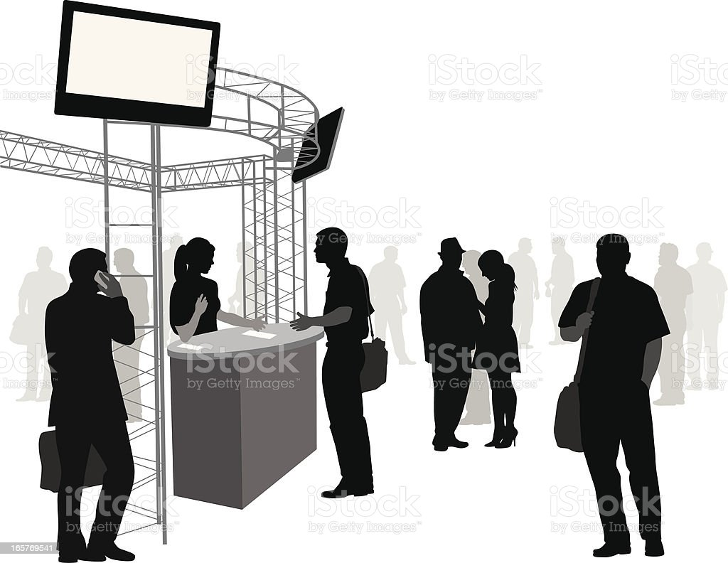 Electronic Show Vector Silhouette royalty-free stock vector art