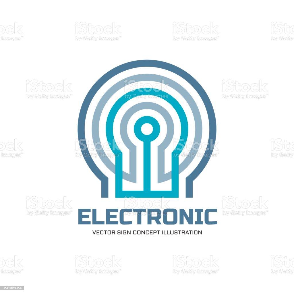 Ilustración De Tecnología Electrónica Ilustración Del