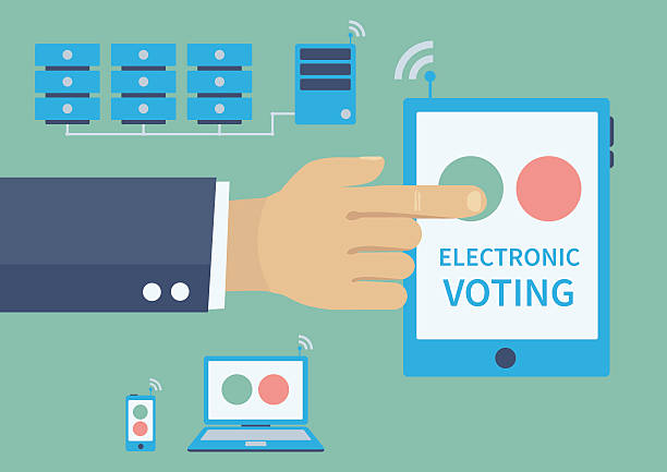 Royalty Free Electronic Voting Clip Art Vector Images