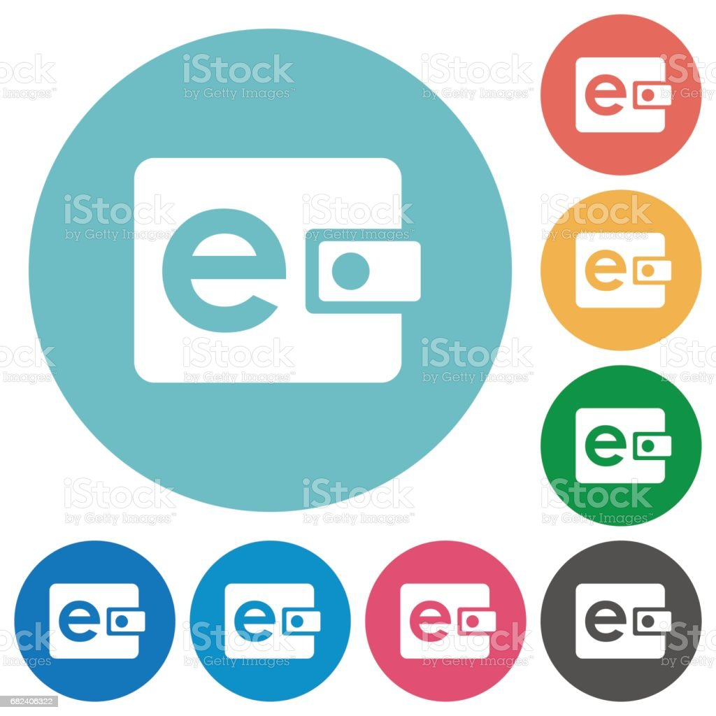 Electronic wallet flat round icons royalty-free electronic wallet flat round icons stock vector art & more images of applying