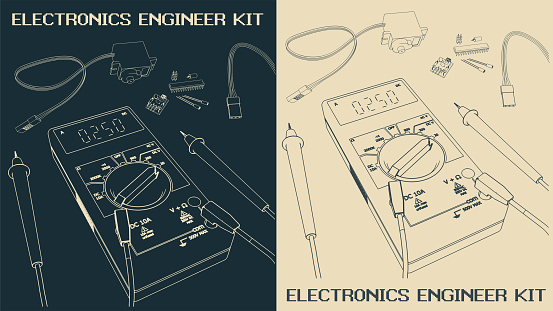 Electronics components Set drawings