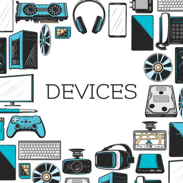 電子機器やデジタルガ ジェット - ゲーム ヘッドフォン点のイラスト素材/クリップアート素材/マンガ素材/アイコン素材