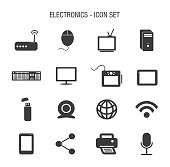 Vector of Electronics Icon Set