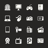 Electronics Icons - White Series | EPS10
