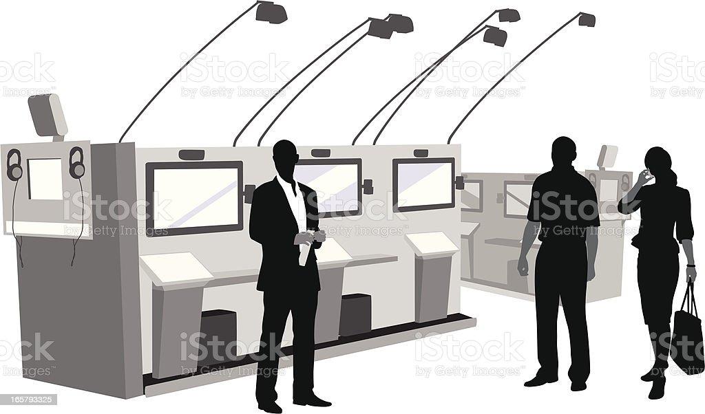 Electronics Industry Vector Silhouette vector art illustration