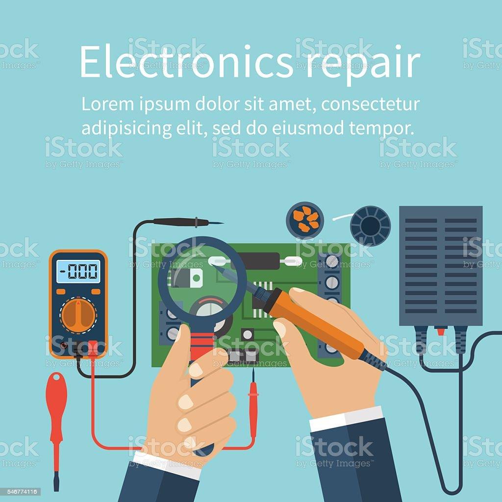 electronics repair tech repairs つながりのベクターアート素材や画像