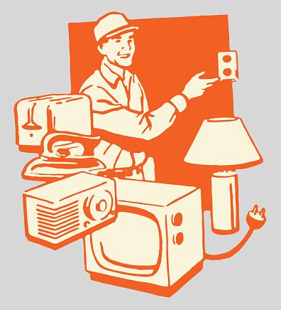Electronics Repairman and His Work