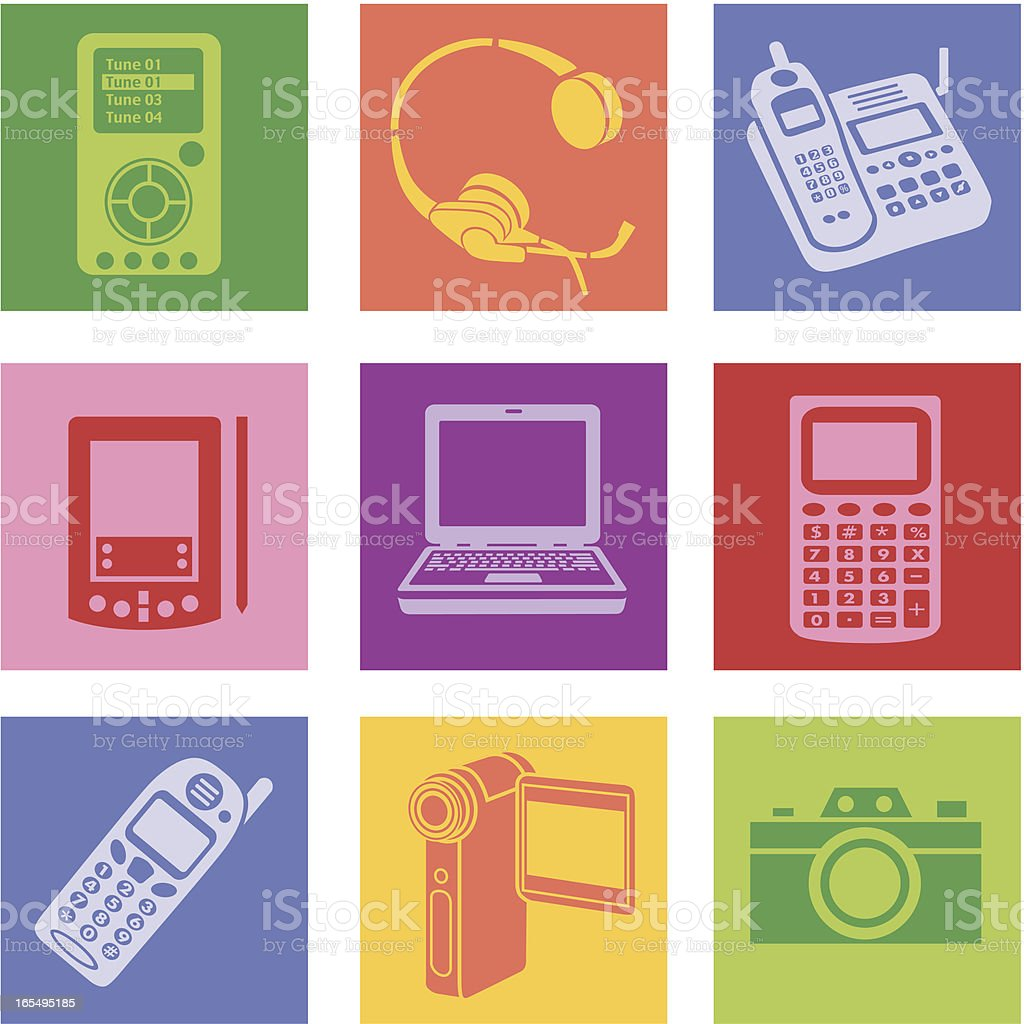 electronics royalty-free stock vector art