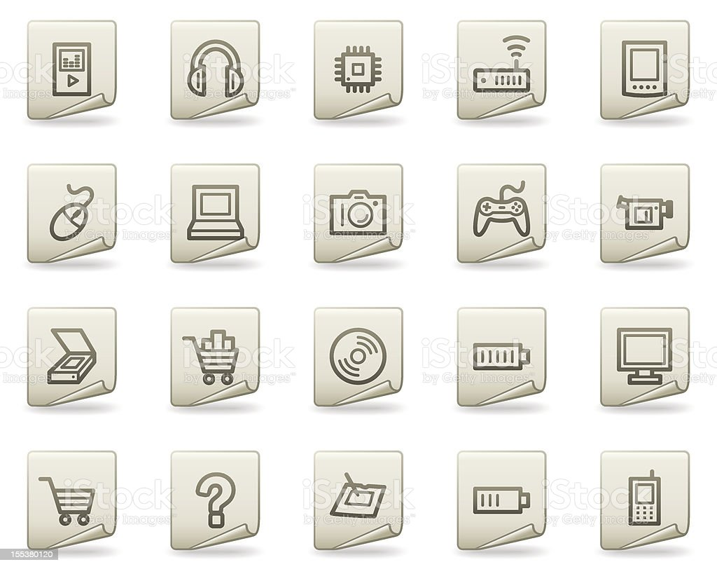 Electronics web icons, document series royalty-free stock vector art