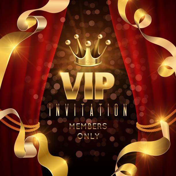 illustrations, cliparts, dessins animés et icônes de élégance et soirée exclusive vector invitation avec luxe or couronne - voyages en première classe