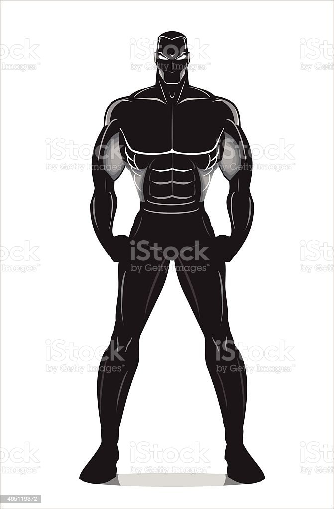 Elegance Artistic muscular human body silhouette vector art illustration