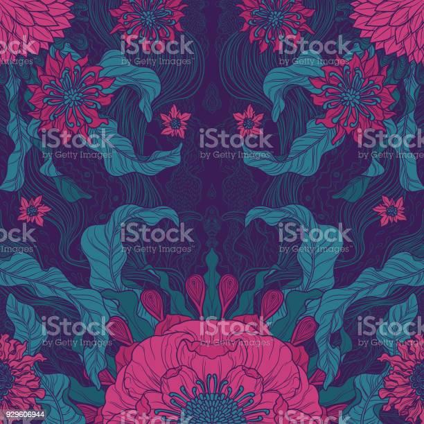 Elegance brush painted floral motif design in green magenta vector id929606944?b=1&k=6&m=929606944&s=612x612&h=hpsr b lhdlmg40lbp6rc5fujwlrgx3osamqmwqhoqk=