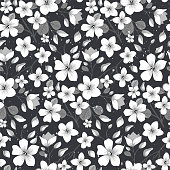 Elegance floral summer or spring pattern template. Seamless pastel vintage pattern for decorating textile, paper or any background. Different colors are available in portfolio.