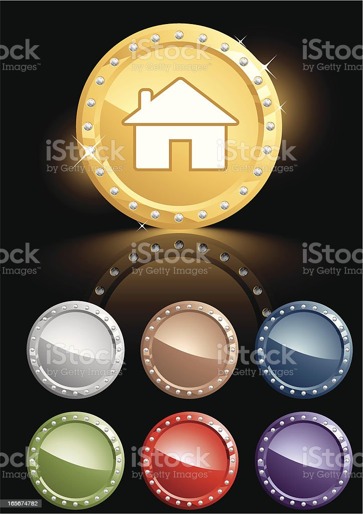 Elegance House Icon royalty-free stock vector art