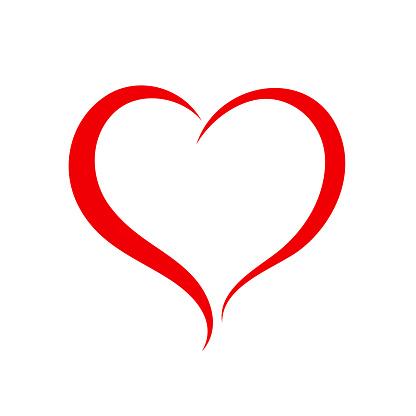 Elegancy red heart - vector