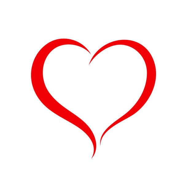 Elegancy red heart - vector Elegancy red heart - vector annotation stock illustrations