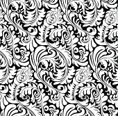 Elegant abstract wallpaper pattern / background (tiles seamlessly)