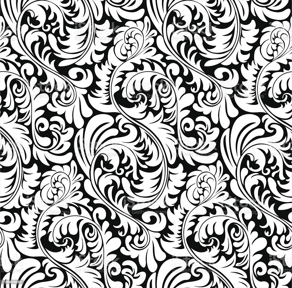 Elegant abstract wallpaper pattern / background (tiles seamlessly) vector art illustration