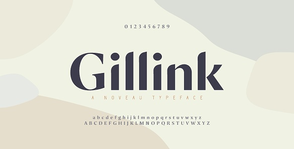 Elegant alphabet letters font and number. Classic Copper Lettering Minimal Fashion Designs. Typography fonts regular uppercase and lowercase. vector illustration