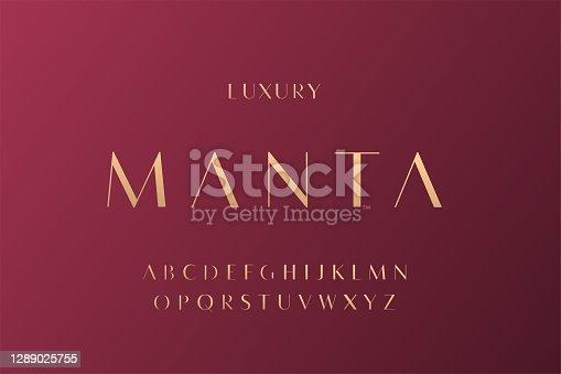 istock Elegant alphabet letters font and number. Classic elegant Lettering Minimal Fashion Designs 1289025755