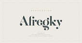 istock Elegant alphabet letters font and number. Classic Lettering Minimal Fashion Designs. Typography modern serif fonts regular decorative vintage concept. vector illustration 1297009980