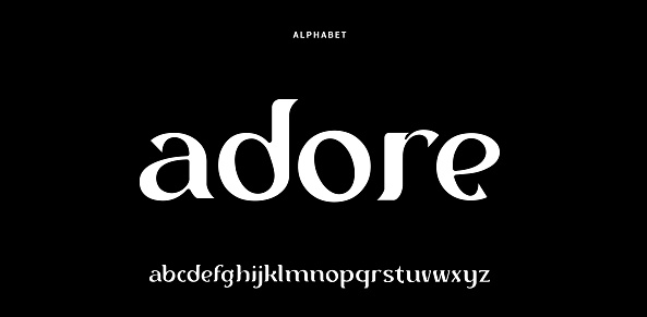 Elegant alphabet letters font. Classic Modern Serif Lettering Minimal Fashion Designs. Typography decoration fonts for branding, wedding, invitations, logos