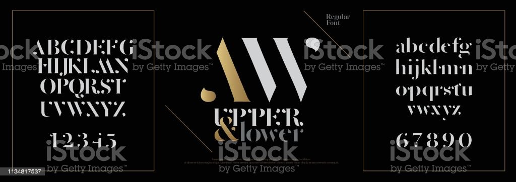 Elegant alphabet letters font set. Classic Custom Lettering Designs for logo, Poster. Typography fonts classic style, regular uppercase, lowercase and number. vector illustration royalty-free elegant alphabet letters font set classic custom lettering designs for logo poster typography fonts classic style regular uppercase lowercase and number vector illustration stock illustration - download image now