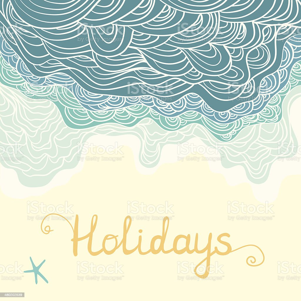 Elegant and pretty holidays design card vector art illustration