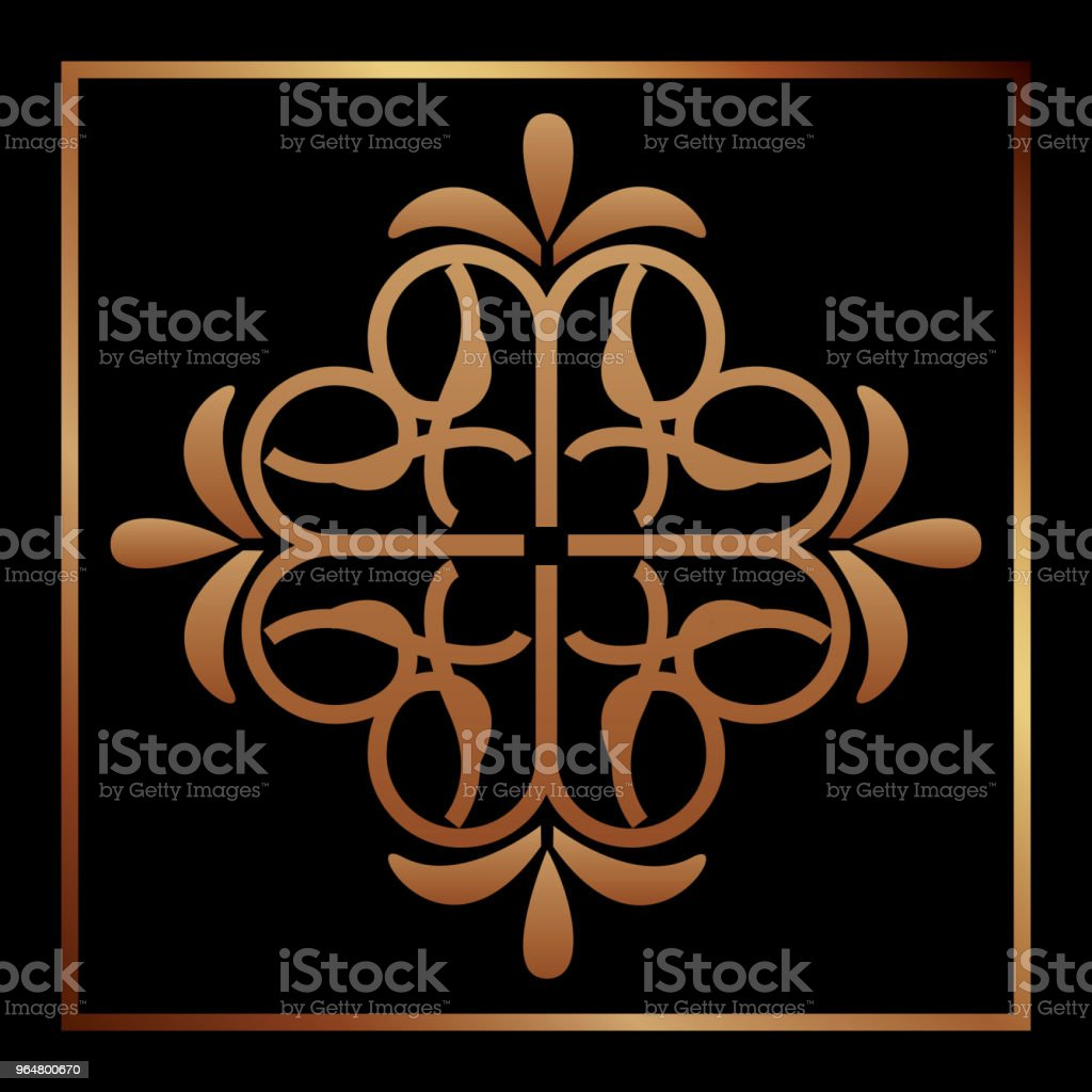 elegant antiquarian frame in art deco style filigree ornament royalty-free elegant antiquarian frame in art deco style filigree ornament stock vector art & more images of abstract