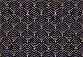 istock Elegant art nouveau seamless pattern. Abstract minimalist background. Geometric art deco texture. 1172577128