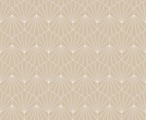Elegant art nouveau seamless pattern. Abstract minimalist background. Geometric art deco texture. Luxury art deco seamless pattern. Abstract vector background. Geometric damask texture. himbeeren stock illustrations