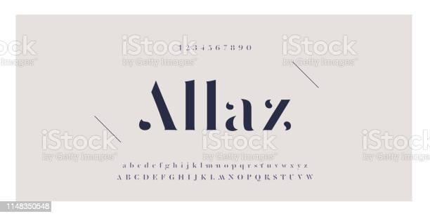 Elegant Awesome Alfabetet Bokstäver Typsnitt Och Nummer Klassiska Bokstäver Minimal Fashion Designs Typografi Teckensnitt Vanliga Versaler Och Gemener Vektor Illustration-vektorgrafik och fler bilder på Alfabet