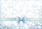 Elegant background with blue bow