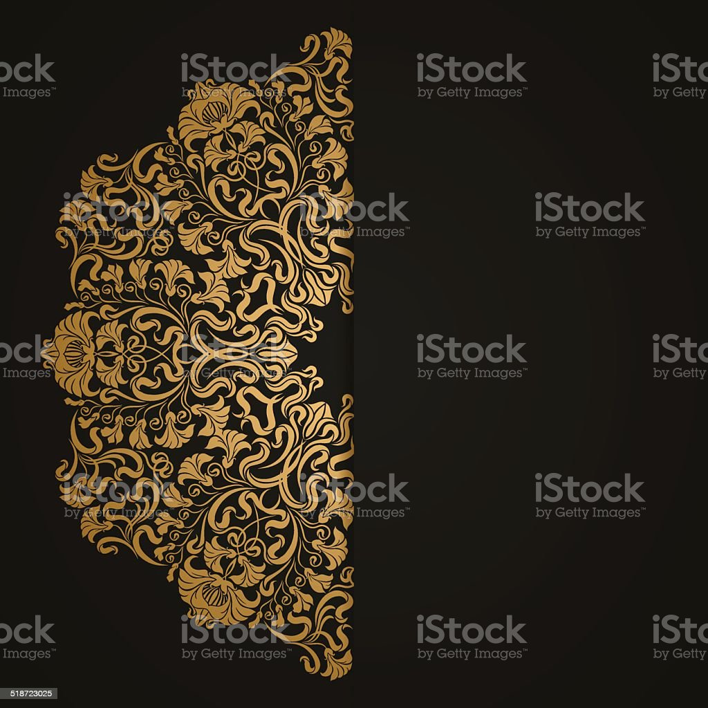 Elegant background with lace ornament vector art illustration