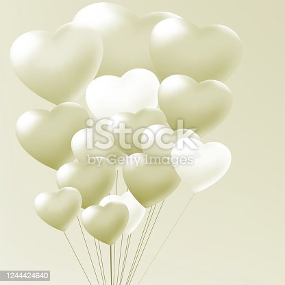 Elegant balloons heart valentine's day. EPS 8 vector file included