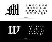 istock Elegant Blackletter Gothic Alphabet Font. Typography classic style font set for logo, Poster, Invitation. vector illustration.eps 1065699034