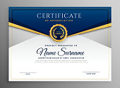 istock elegant blue and gold diploma certificate template 1128426035