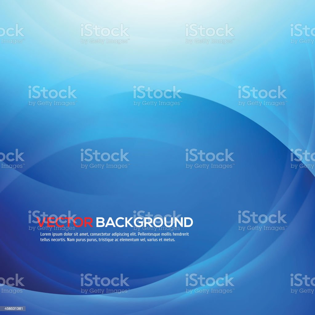Elegant blue background with place for text. vector art illustration