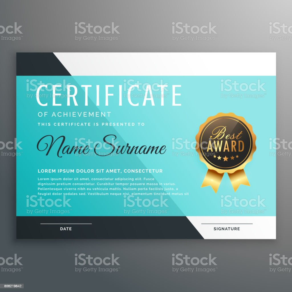 Elegant blue certificate template vector design stock vector art elegant blue certificate template vector design royalty free stock vector art xflitez Images