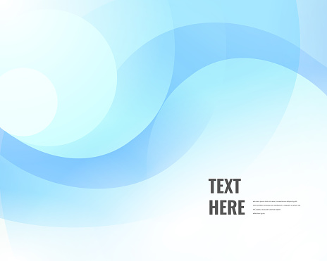 Elegant blue wave swirls background