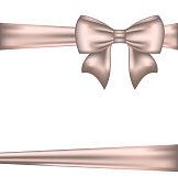 Illustration elegant bow for packing gift - vector