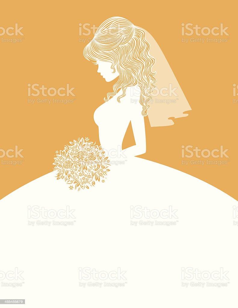 Elegant Bride SIlhouette 2 royalty-free stock vector art