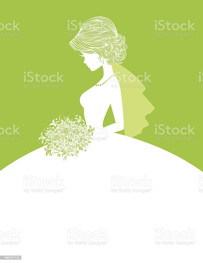 Elegant Bride SIlhouette 3 royalty-free elegant bride silhouette 3 stock vector art & more images of adult