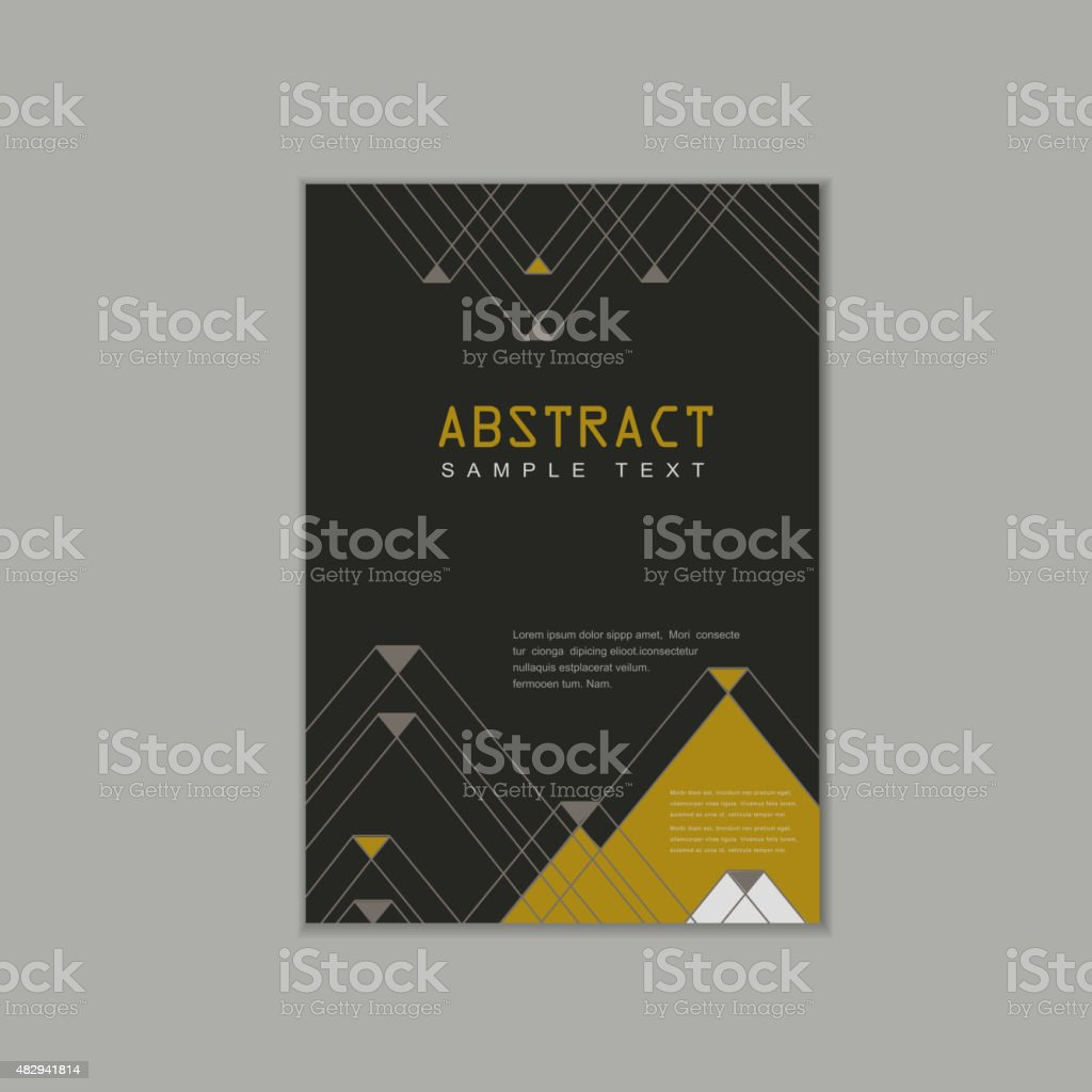 Elegant Brochure Template Design Stock Vector Art More Images Of