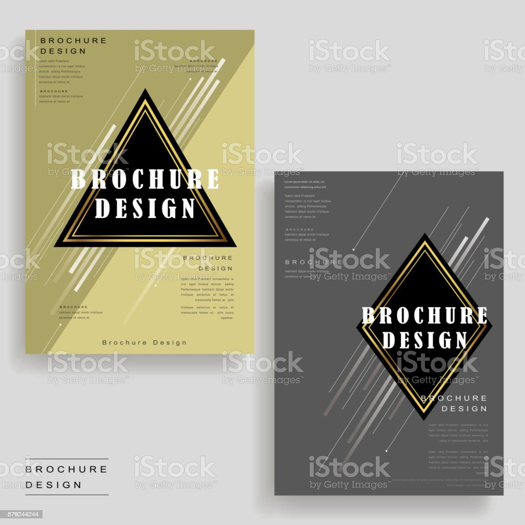 Elegant Brochure Template Stock Vector Art More Images Of Abstract