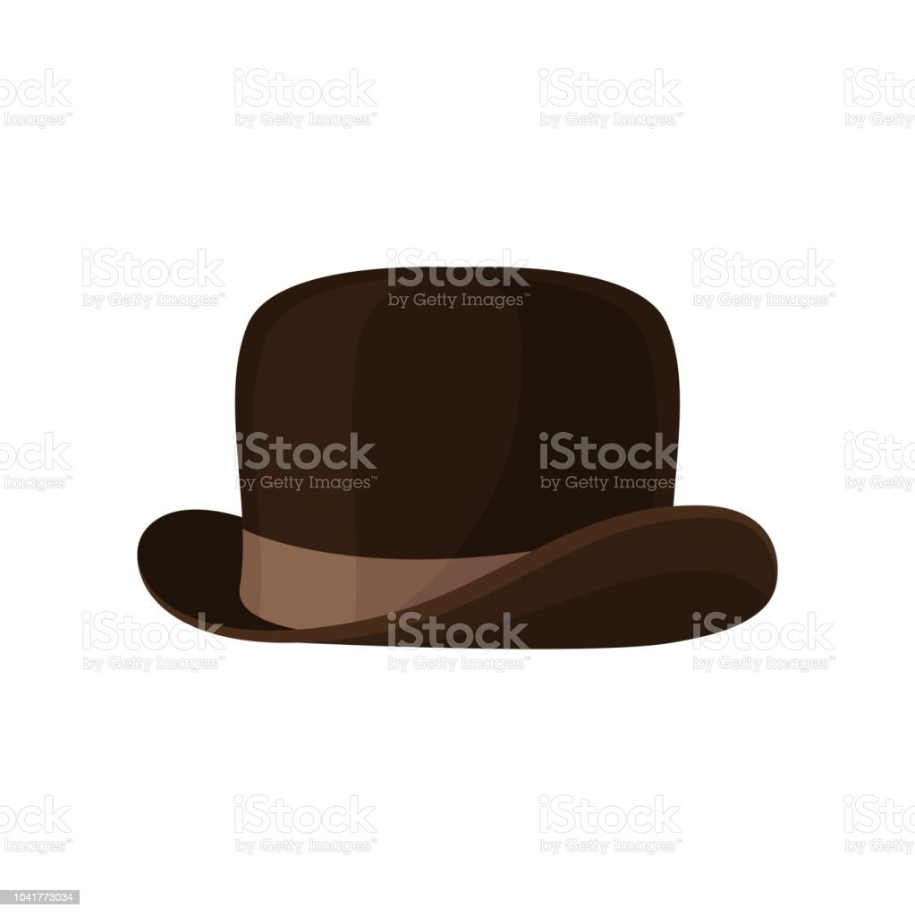 Elegante Braune Melone Vintage Männliche Kopfbedeckung Stilvolle