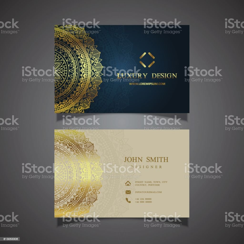 Elegant Business Card Design Stock Vector Art & More Images of ...